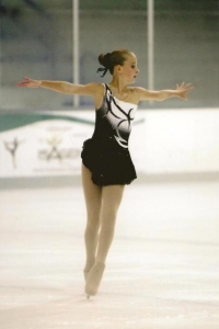 black and white figure skating dress2