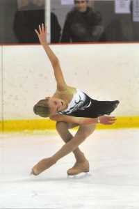 black and white figure skating dress